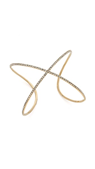 Michael Kors Pave X Statement Cuff Bracelet