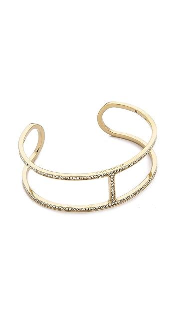 Michael Kors Delicate Pave Maritime Open Cuff Bracelet