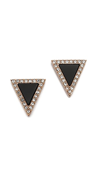 Michael Kors Semi Precious Triangle Stud Earrings