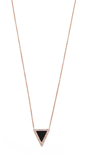 Michael Kors Semi Precious Triangle Pendant Necklace