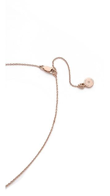 Michael Kors Semi Precious Triangle Pendant Necklace