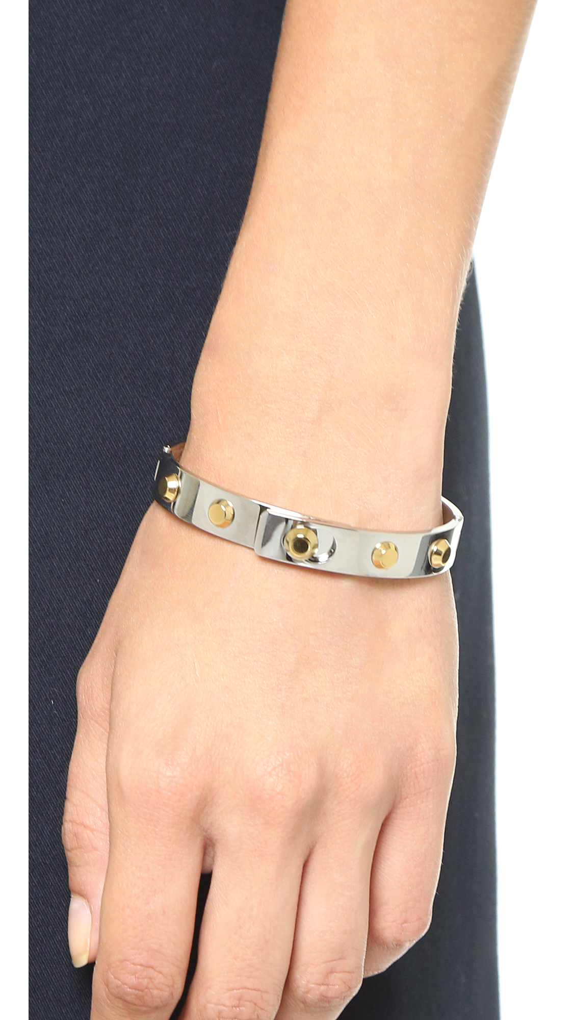 tone bangles hinged dp hinge com pave rose bracelet bangle gold michael jewelry amazon kors
