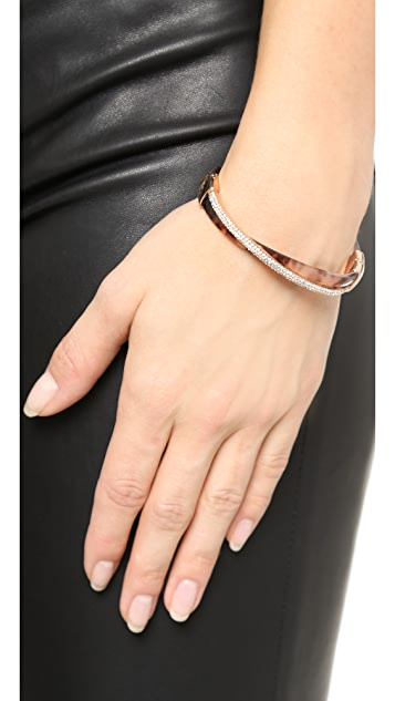 Michael Kors Pave Crisscross Hinged Bracelet