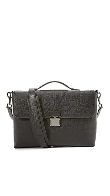 Michael Kors Bryant Pebbled Leather Briefcase Messenger Bag