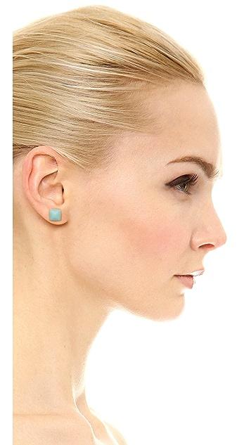 Michael Kors Semi Precious Pyramid Stud Earrings