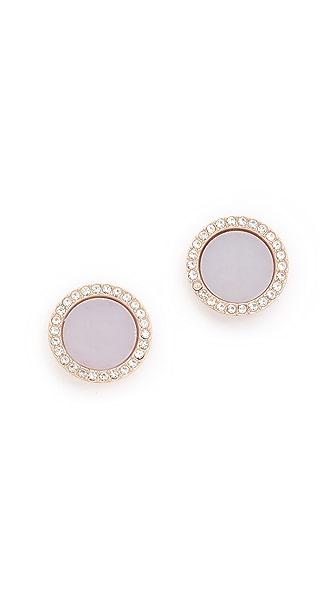 Michael Kors Disc Stud Earrings