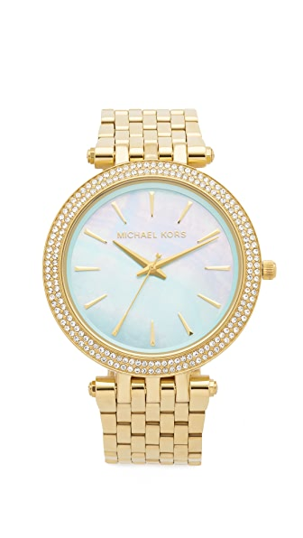 Michael Kors watch with mint dial