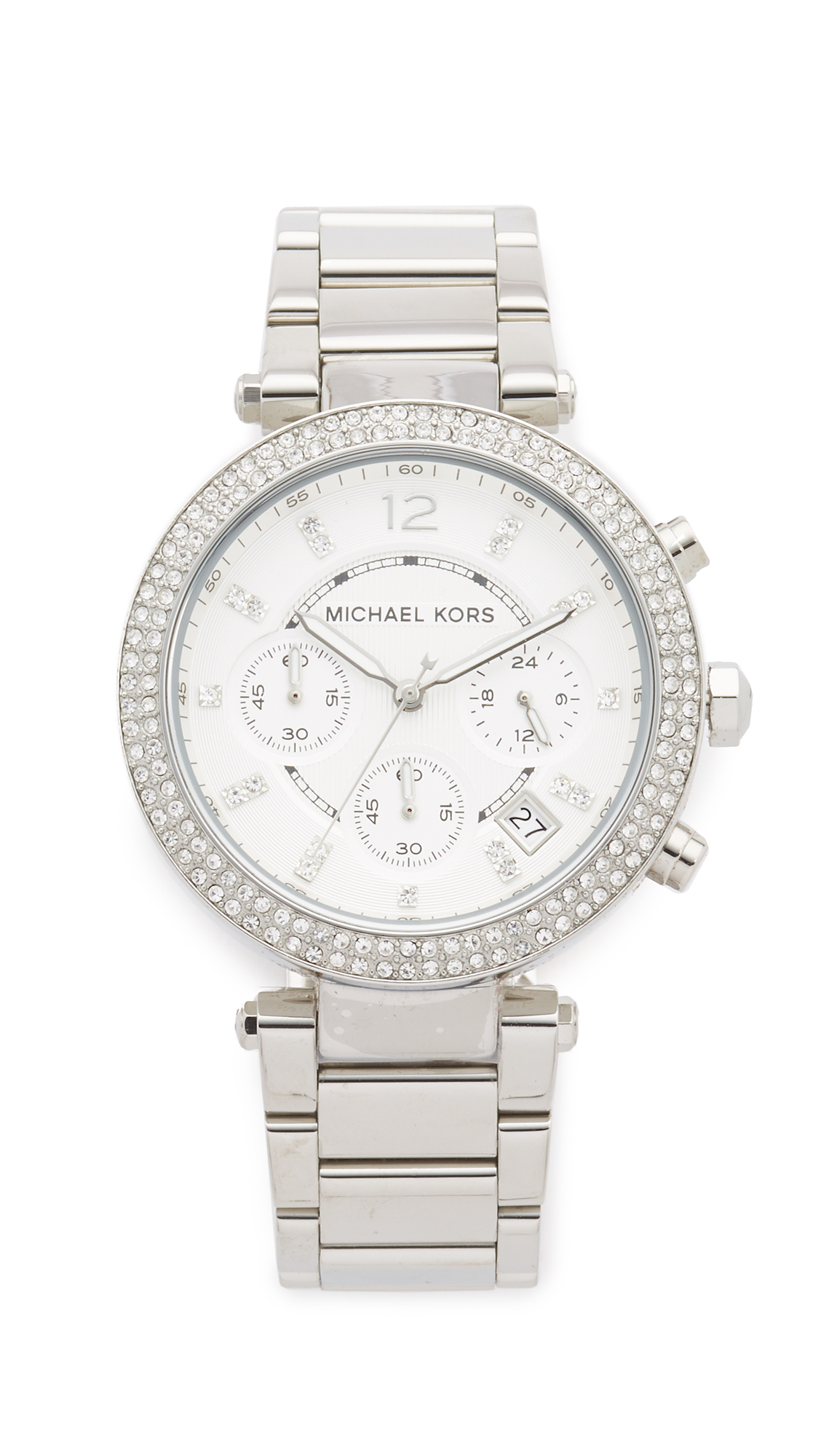 michael kors female michael kors parker watch silver
