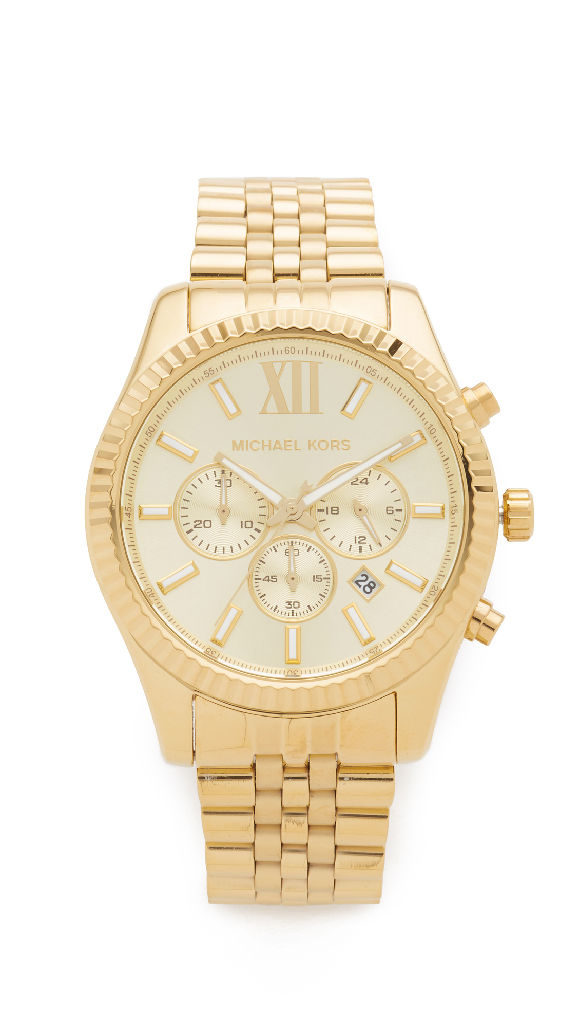 michael kors female michael kors oversized lexington watch gold