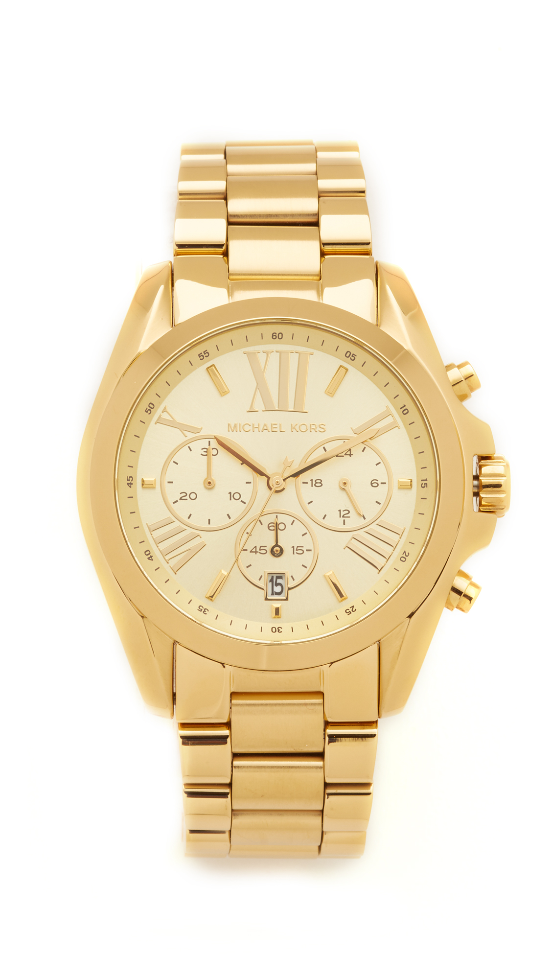 michael kors female michael kors bradshaw chronograph watch gold