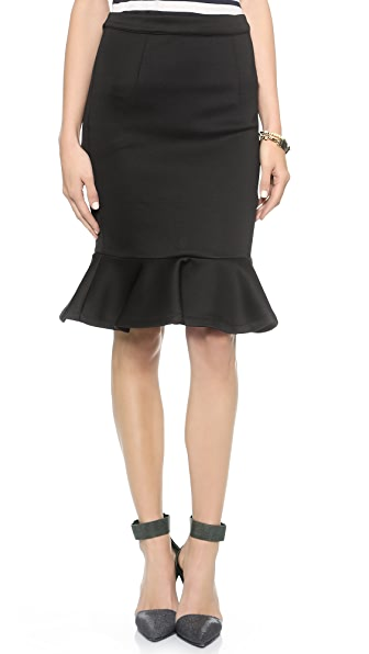 MLM LABEL Flip Hem Pencil Skirt