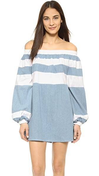 MLM LABEL Afar Off Shoulder Mini Dress