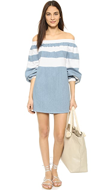 MLM LABEL Afar Off Shoulder Mini Dress