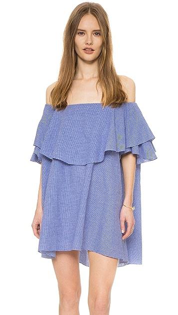 MLM LABEL Maison Off Shoulder Gingham Dress