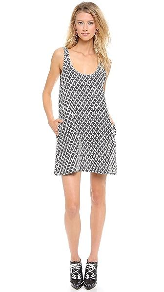 Margaux Lonnberg Diamond Jacquard Shift Dress
