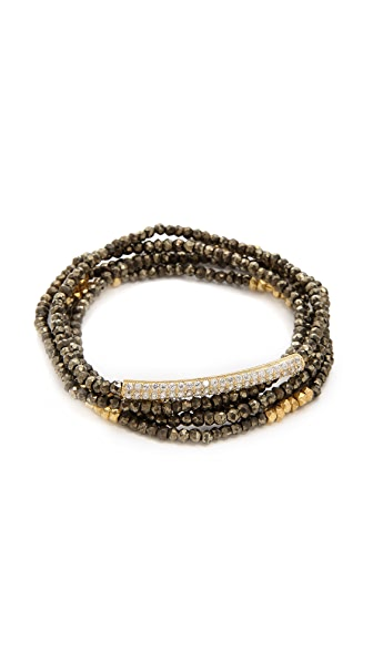 Mary Louise Designs Pyrite Bracelet Set