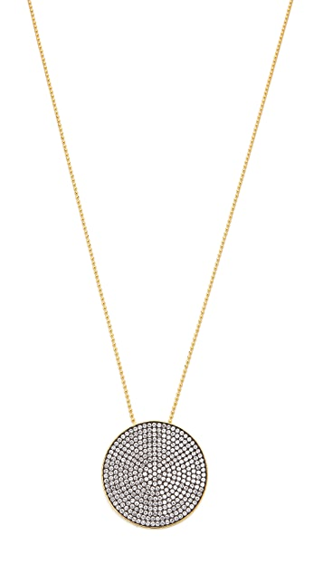 Mary Louise Designs Crystal Circle Pendant Necklace