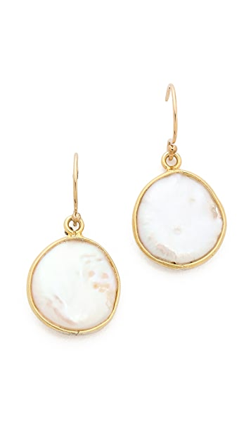 Mary Louise Designs Flat Cultured Freshwater Pearl Earrings