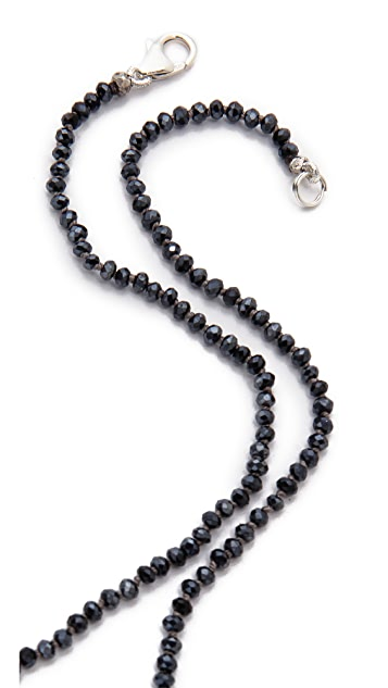 Mary Louise Designs Beaded Crystal Disc Necklace