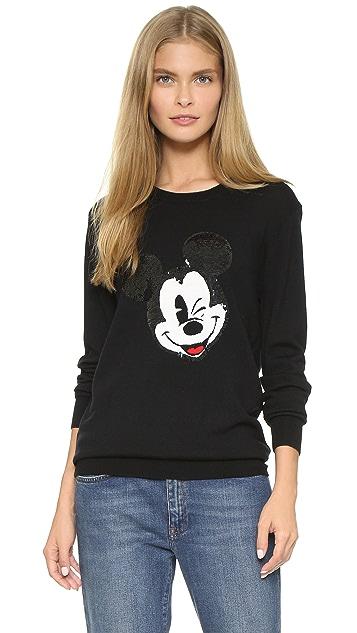 Markus Lupfer Winking Mickey Sequin Sweater