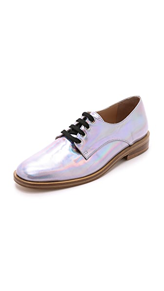 holographic oxford shoes