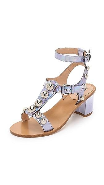 Markus Lupfer Embellished City Sandals - Hologram Silver