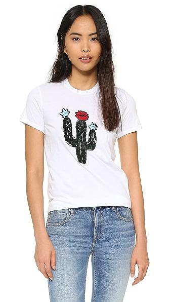 Markus Lupfer Cactus Embellished Kate Tee