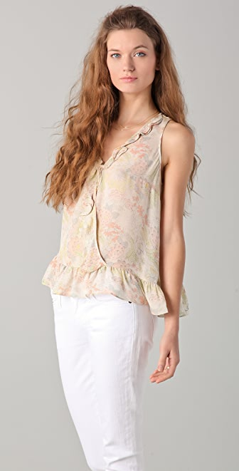 Madison Marcus Cultivate Floral Ruffle Top