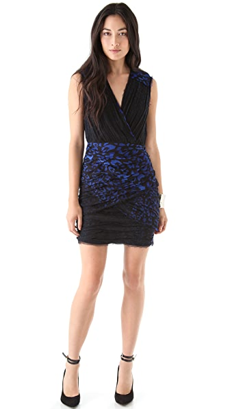 Madison Marcus Print Wrap Around Dress