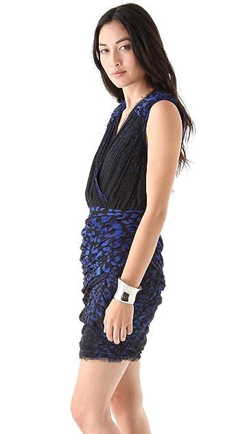 Madison Marcus Print Wrap Around Dress