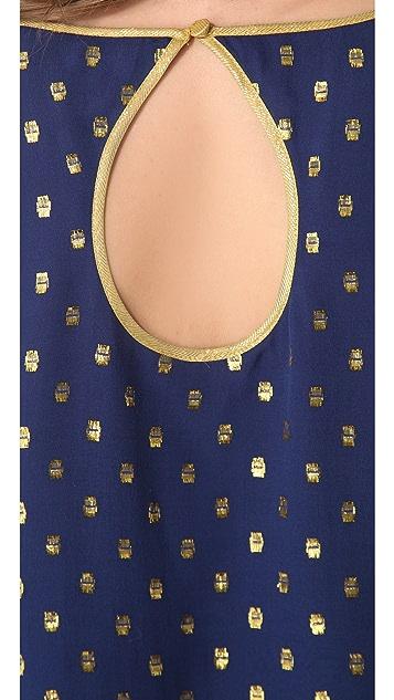 Madison Marcus Shimmer Back Keyhole L/S Dress