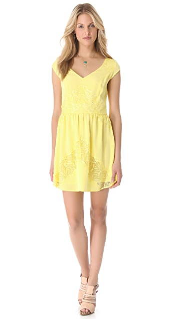 Madison Marcus Evoke Lace Accent Dress