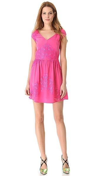 Madison Marcus Evoke Lace Accent Dress