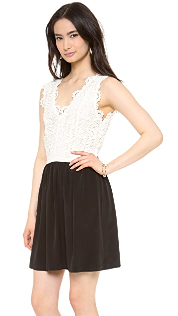 Madison Marcus Lace Combo Dress
