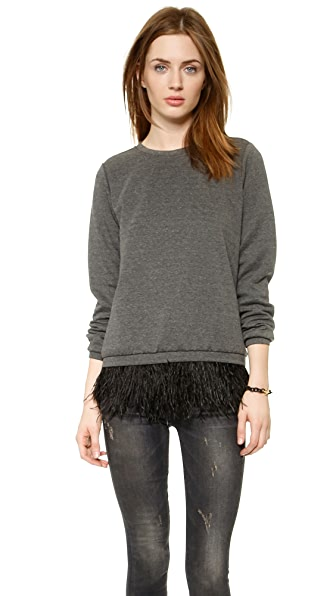 Madison Marcus Integrity Feather Sweatshirt Top