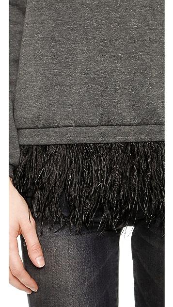 Madison Marcus Integrity Feather Sweatshirt Top