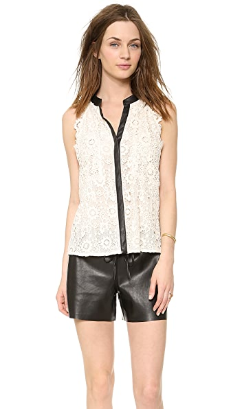Madison Marcus Lace Sleeveless Blouse