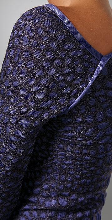 M Missoni Crocodile Intarsia One Shoulder Dress