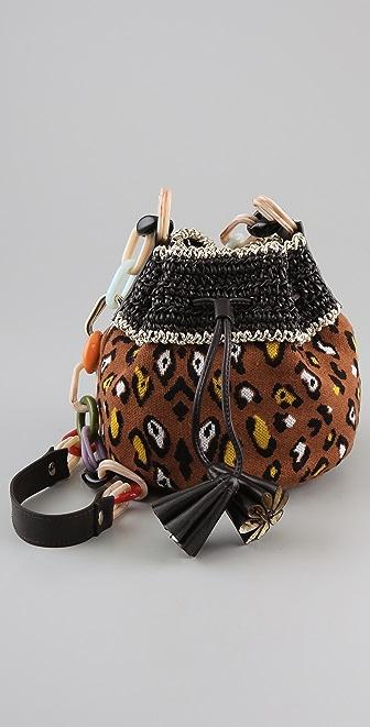 M Missoni Leopard Print Pouchette Bag