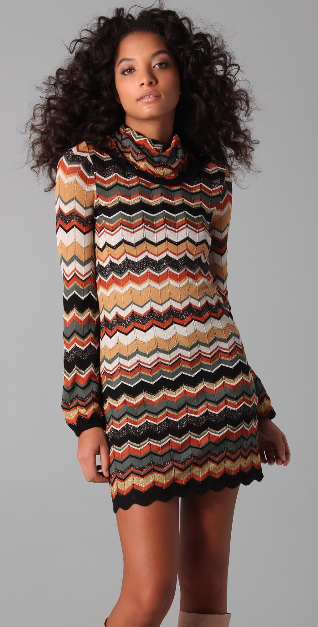 614e979f505 M Missoni Turtleneck Sweater Dress