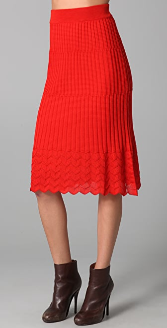 M Missoni Solid Knit Skirt