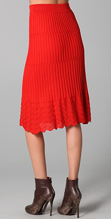 M Missoni Solid Knit Skirt