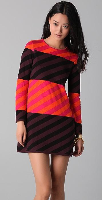 M Missoni Diagonal Stripe Colorblock Dress