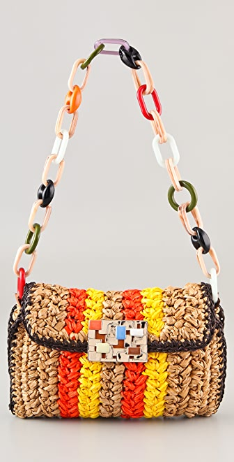 M Missoni Crochet Shoulder Bag