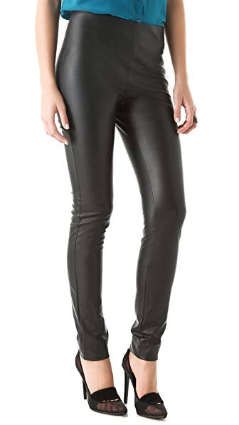 M Missoni Solid Faux Leather Leggings