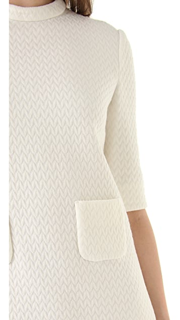 M Missoni Zigzag Double Knit Dress