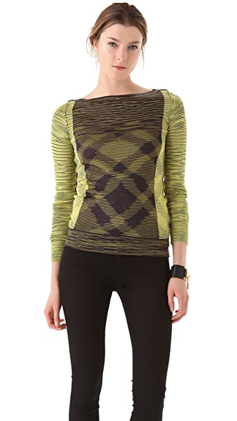 M Missoni Space Dye Intarsia Sweater
