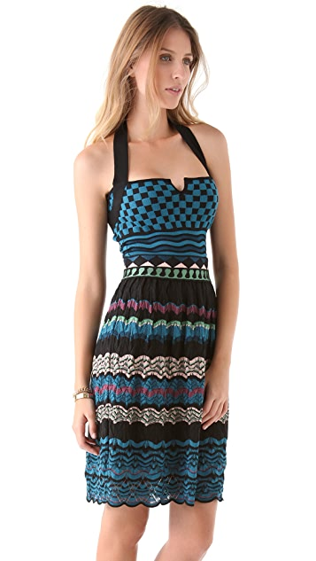 M Missoni Patchwork Halter Dress