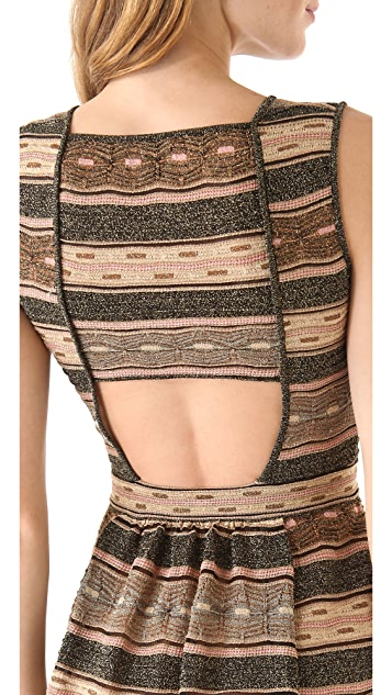 M Missoni Wave Peephole Dress