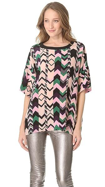 M Missoni Zigzag Silk Oversized Tunic
